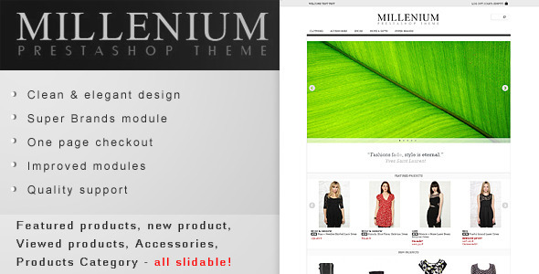 ThemeForest Millenium Prestashop 1.5 Theme 3865279