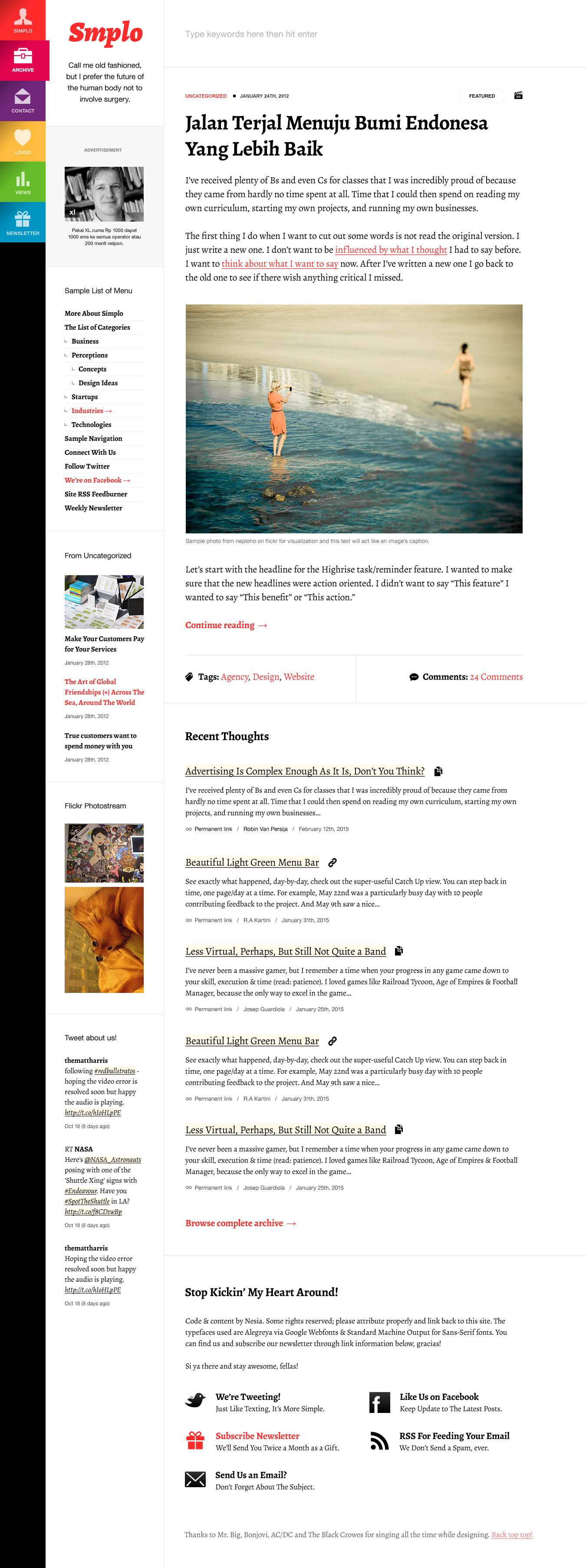 Simplo - Responsive WordPress Blog / Personal