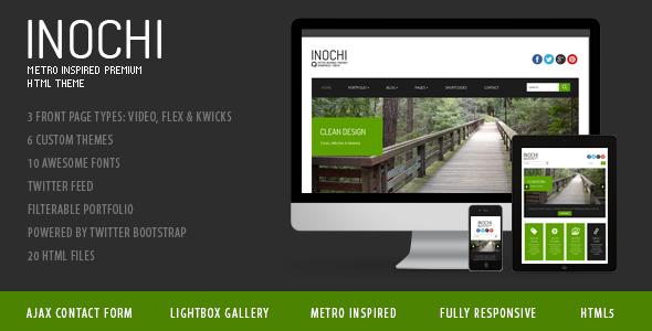 Inochi - Metro Inspired Clean Template - Inochi - metro inspired premium HTML template