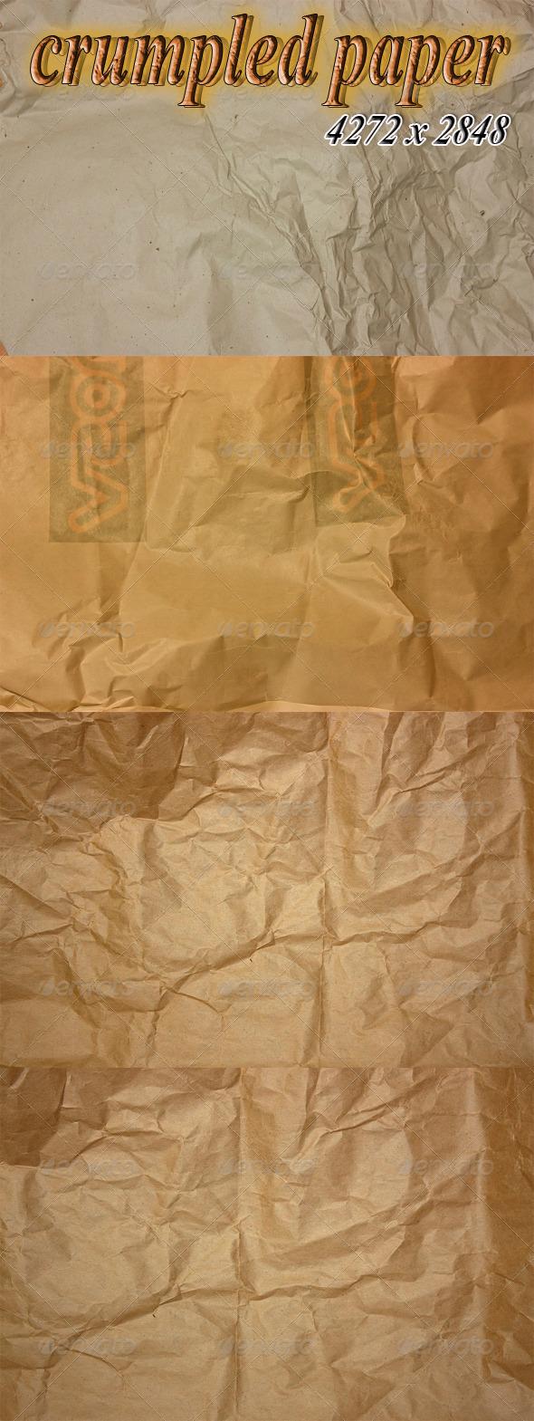 Crumpled Paper Textures - Paper Textures