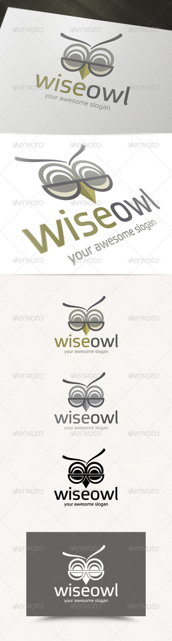 GraphicRiver Wise Owl Logo 3892288