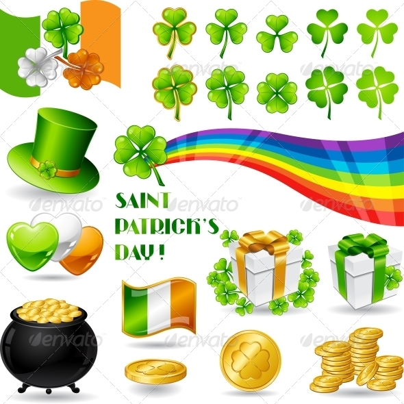 GraphicRiver Collection illustrations of Saint Patrick s Day 3892474