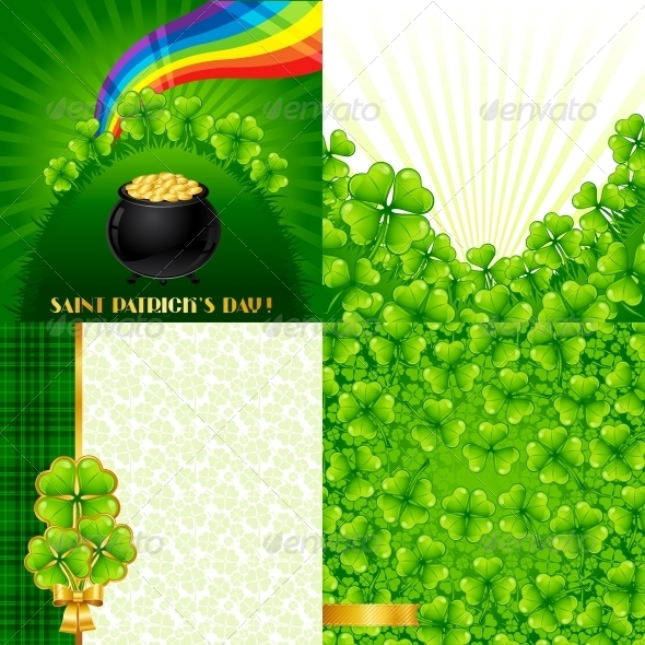 GraphicRiver Greeting cards for Saint Patrick s day 3892565
