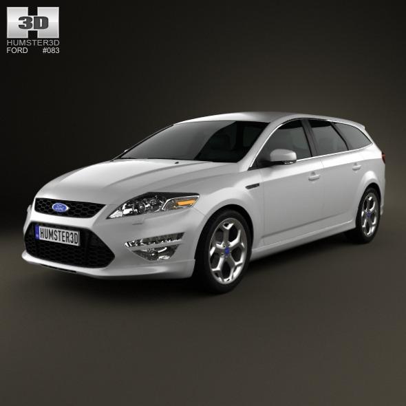 3DOcean Ford Mondeo Turnier Titanium X Mk4 2012 3892596
