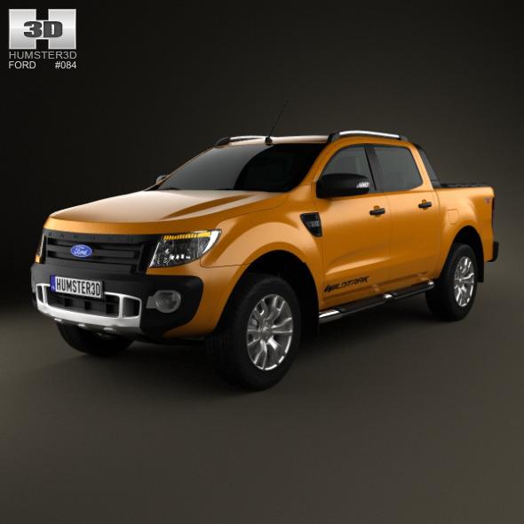 3DOcean Ford Ranger Wildtrak Double Cab 2012 3892611