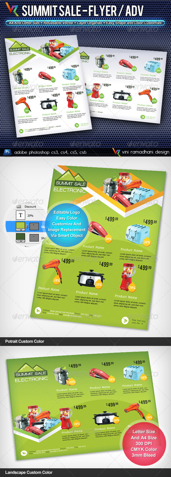 GraphicRiver Summit Sale Flyer Or Advertising 3804314