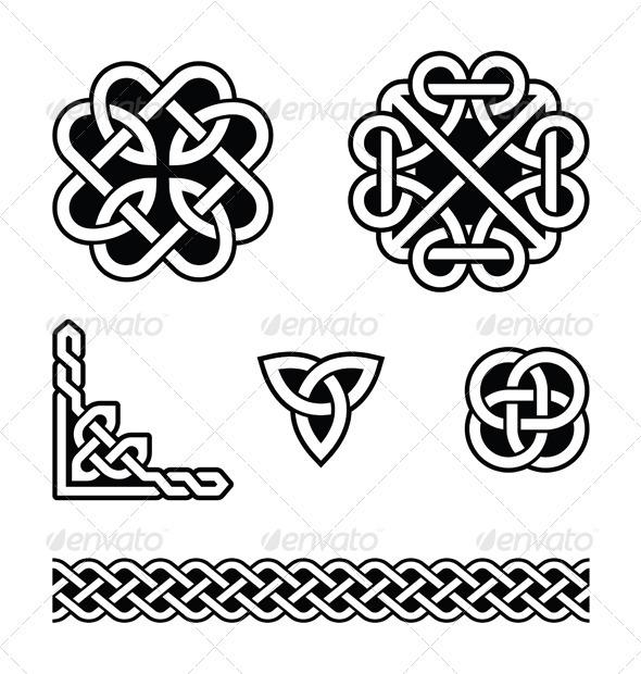 celtic knots patterns vector graphicriver. Black Bedroom Furniture Sets. Home Design Ideas