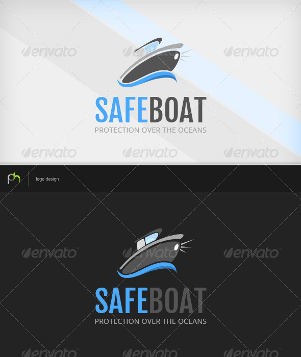 GraphicRiver Safeboat Logo 3838568