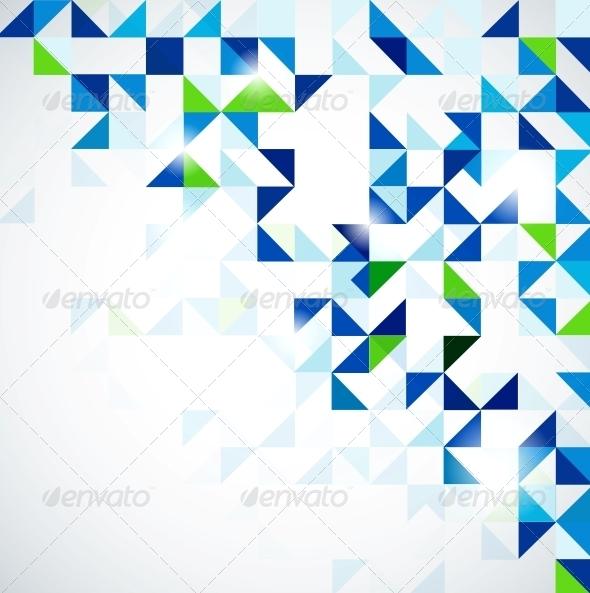 Blue green modern geometric design template - Backgrounds Business