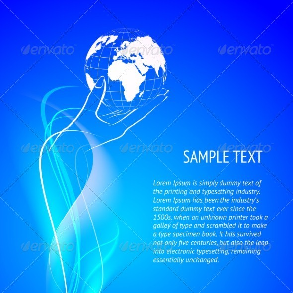 GraphicRiver Hands holding globe 3893988