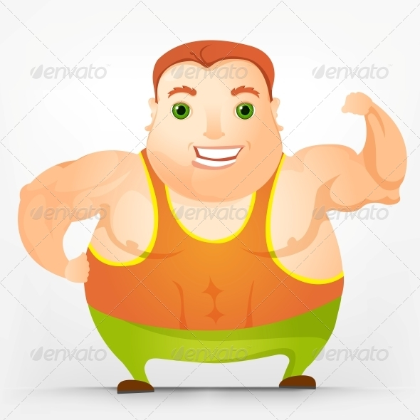 GraphicRiver Cheerful Chubby Man 3894007
