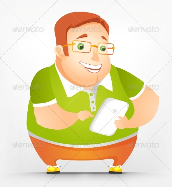 GraphicRiver Cheerful Chubby Man 3894009