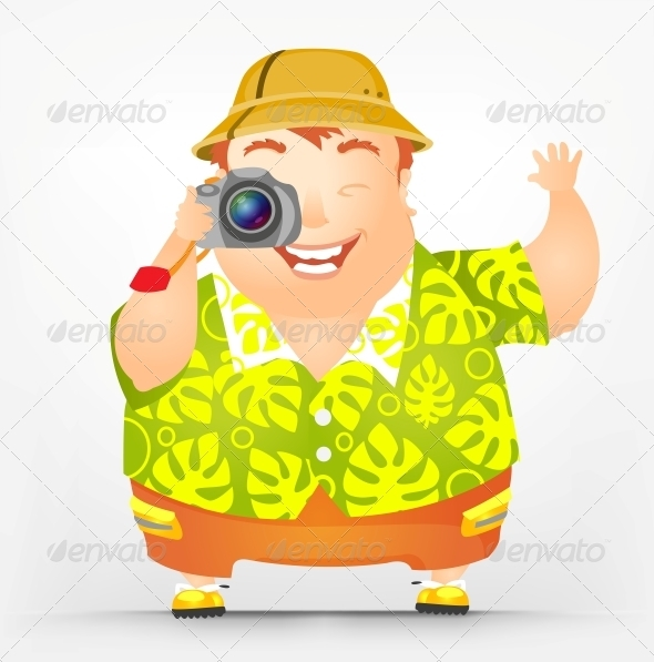 GraphicRiver Cheerful Chubby Man 3894011