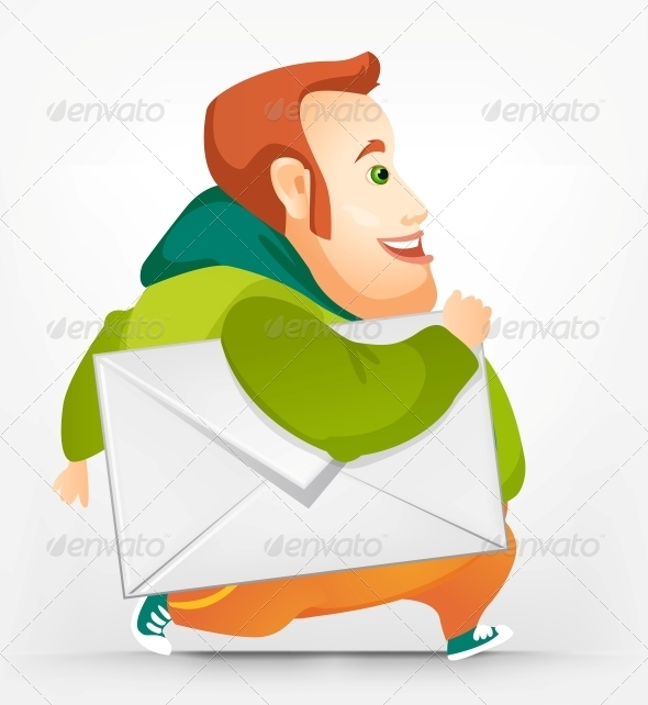 GraphicRiver Cheerful Chubby Man 3894013