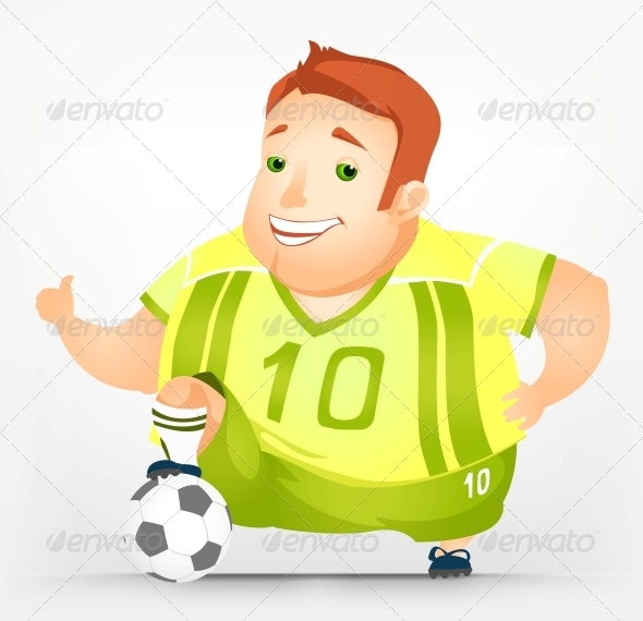 GraphicRiver Cheerful Chubby Man 3894048