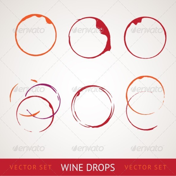 GraphicRiver Red wine stain 3894365