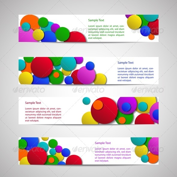GraphicRiver Flyers with Colored Circles 3894381