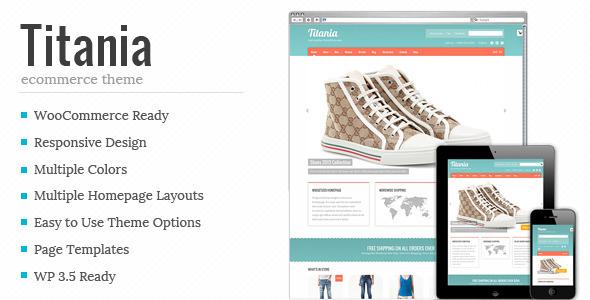 ThemeForest Titania Flexible eCommerce Shop Theme 3809207