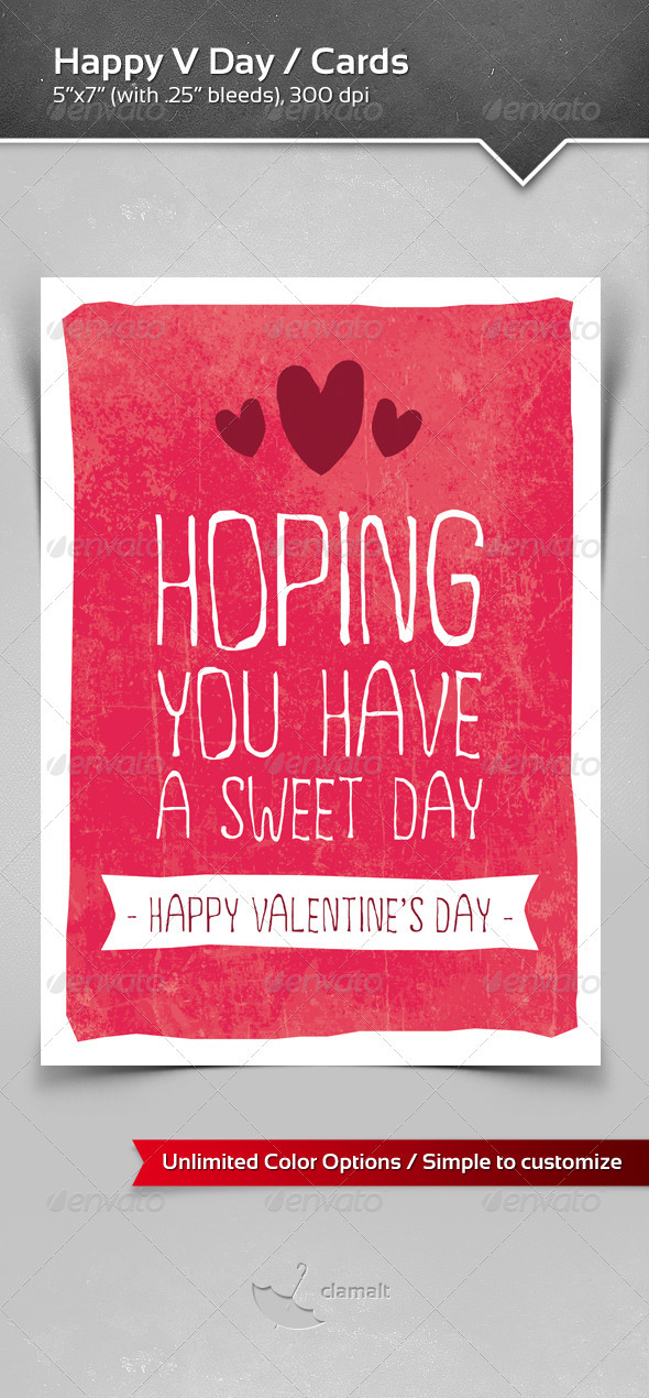 GraphicRiver Happy V Day Greeting Cards 3894960