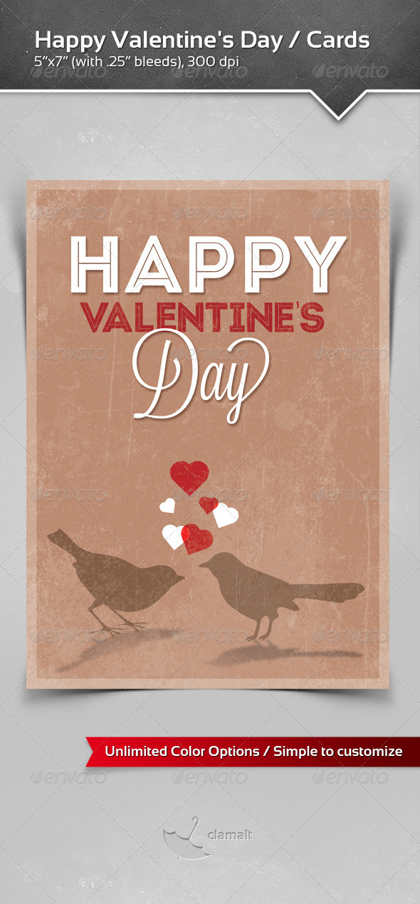 GraphicRiver Happy Valentine s Day Greeting Cards 3895040