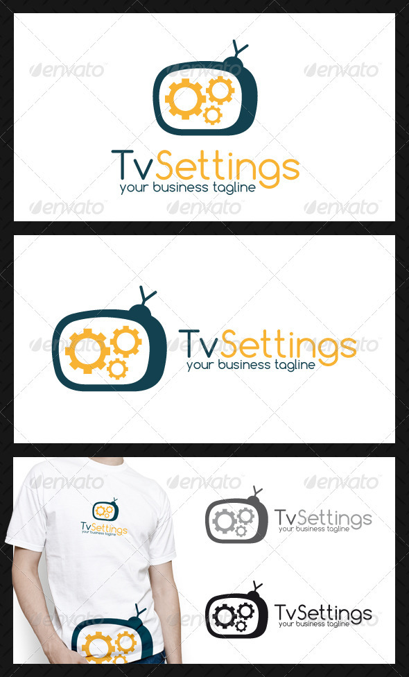 GraphicRiver Tv Repair Logo Template 3895121