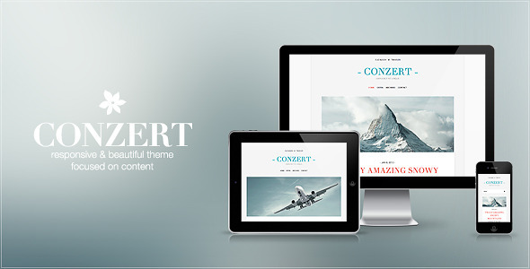 ThemeForest Conzert Responsive WordPress Theme 3895628