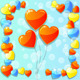 Blue Valentine's Day Card with Hearts - GraphicRiver Item for Sale