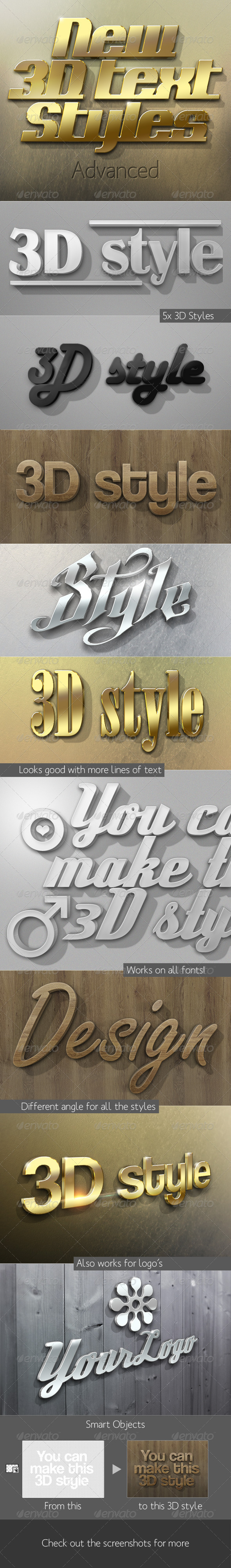 GraphicRiver New 3D Text Styles Advanced 3803506