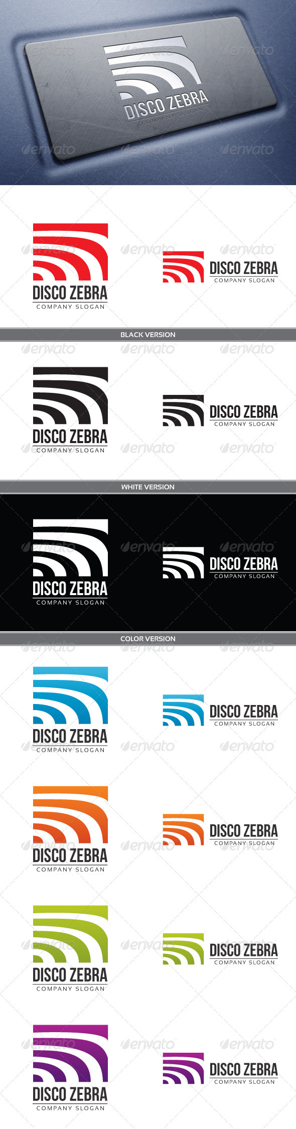 GraphicRiver Disco Zebra Logo 3766662