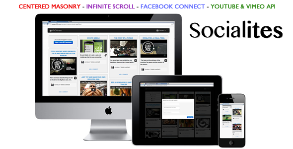 CodeCanyon Masonry with Infinite Scroll and Facebook Connect 3897103