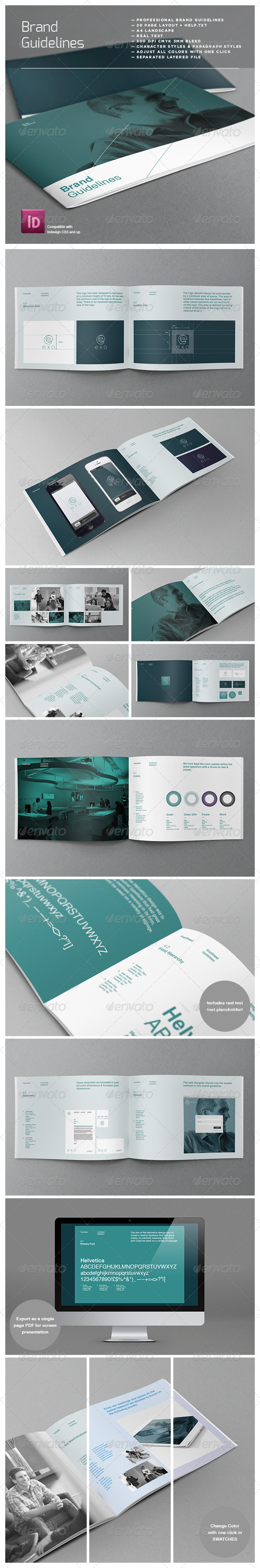 GraphicRiver Brand Logo Guidelines Template 3897215