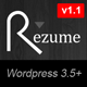 Rezume Wordpress vcard theme - ThemeForest Item for Sale