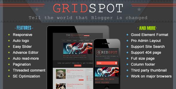 ThemeForest Grid Spot Responsive Blogger Template 3878526