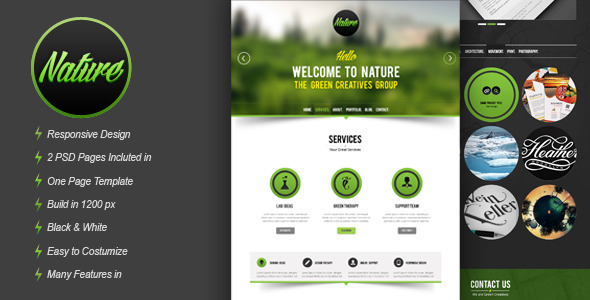 Nature Psd Template