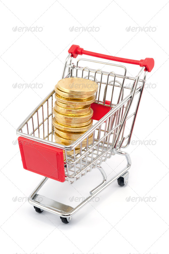 Coin shape chocolates - Stock Photo - Images