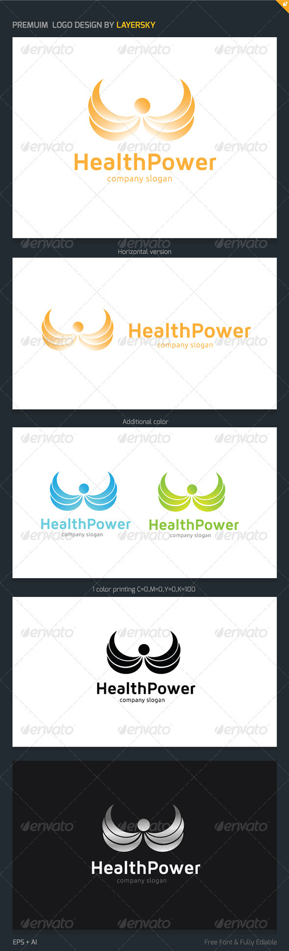 GraphicRiver Health Power Logo 3898683