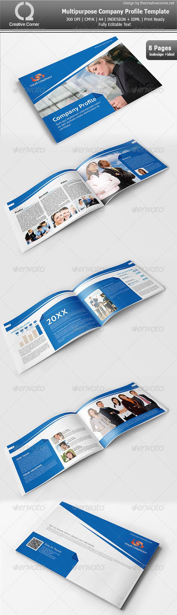 GraphicRiver Multipurpose Company Profile Template 3898684