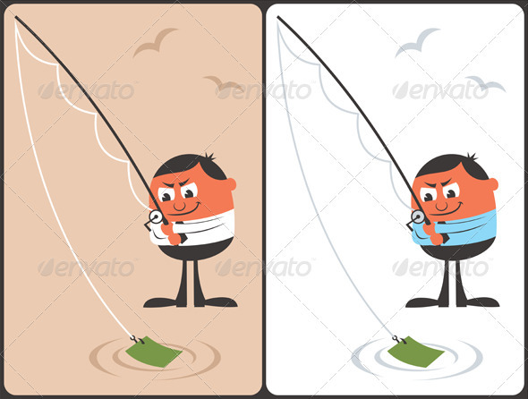 GraphicRiver Businessman Fishing Concept 3770124