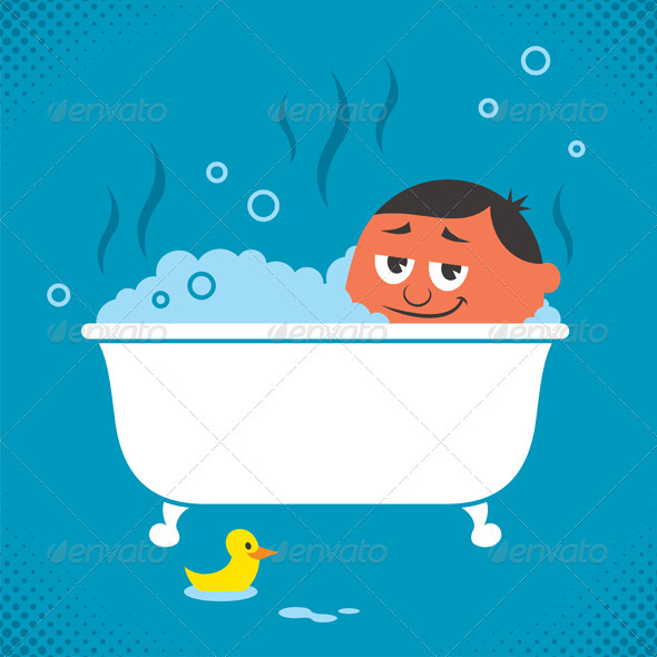 GraphicRiver Bathtub Relaxation 3814212