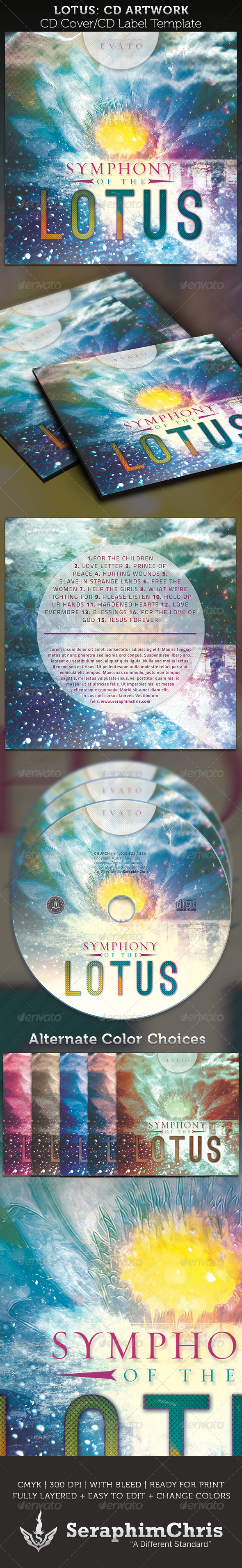 GraphicRiver Symphony of the Lotus CD Cover Artwork Template 3898954