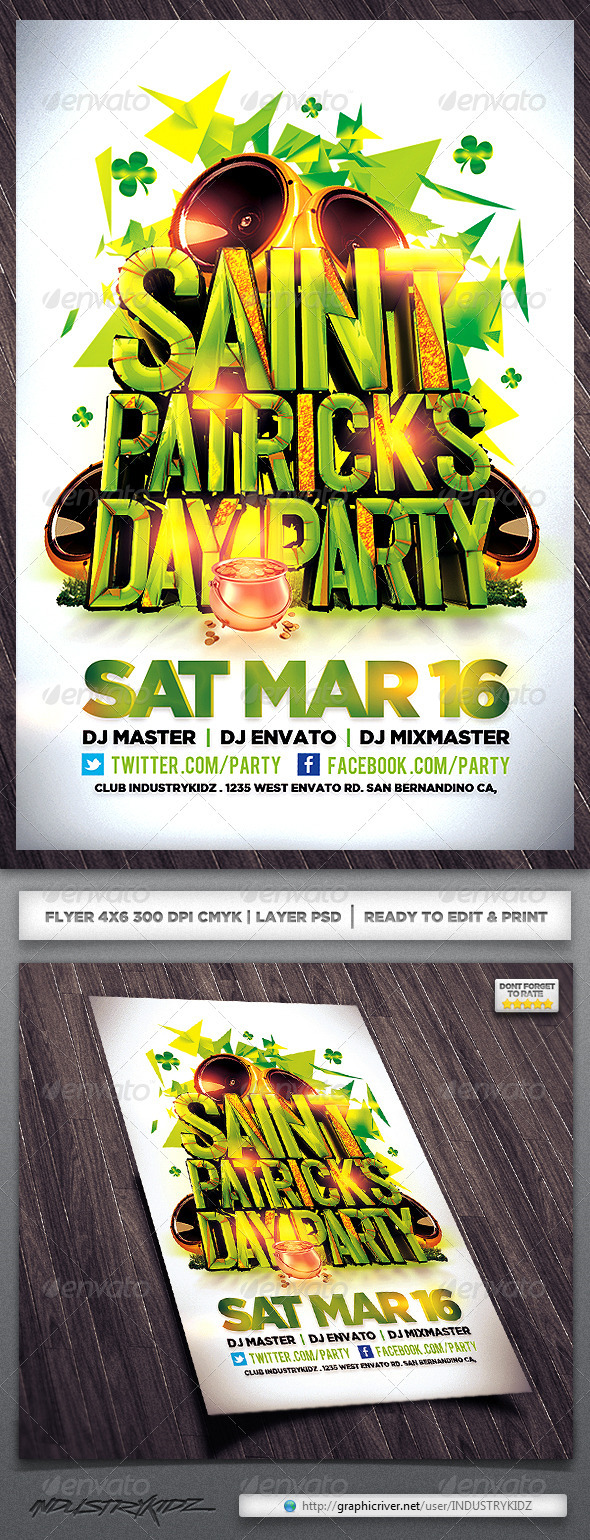 GraphicRiver St Patricks Flyer 3899080