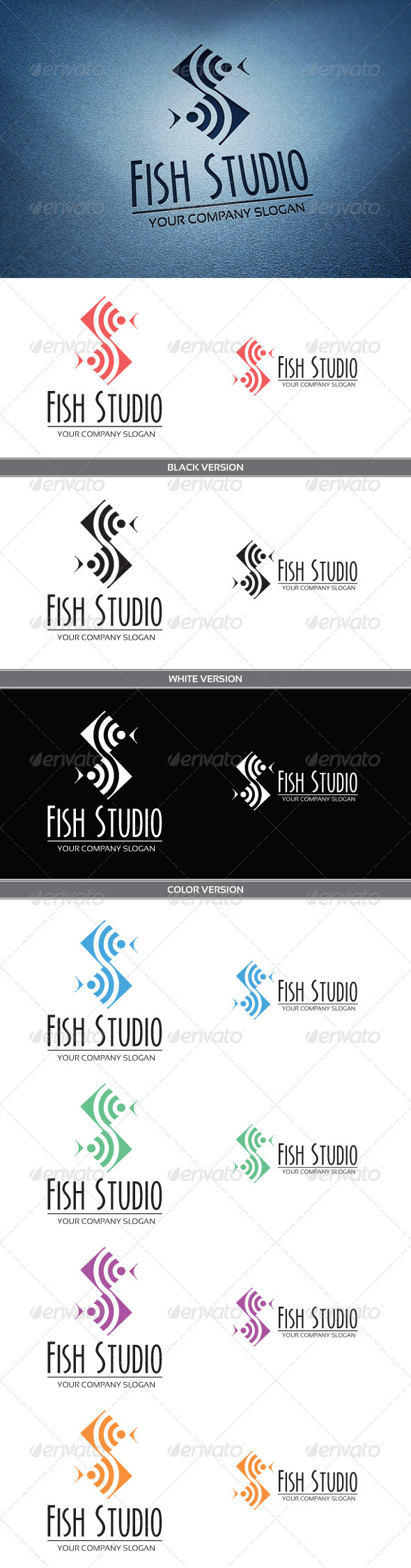 GraphicRiver Fish Studio Logo 3809373