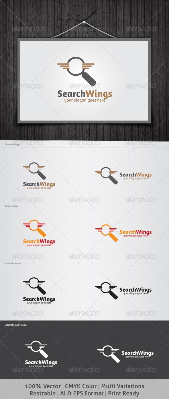 SearchWings Logo - Symbols Logo Templates