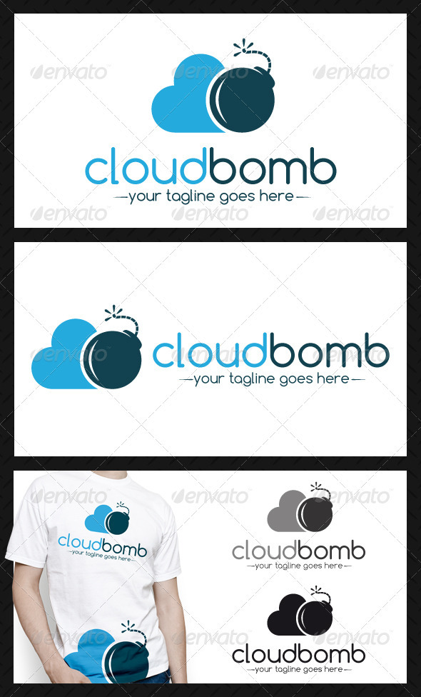 GraphicRiver Cloud Bomb Logo Template 3899706