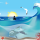 Fisherman and Dolphins Underwater - GraphicRiver Item for Sale