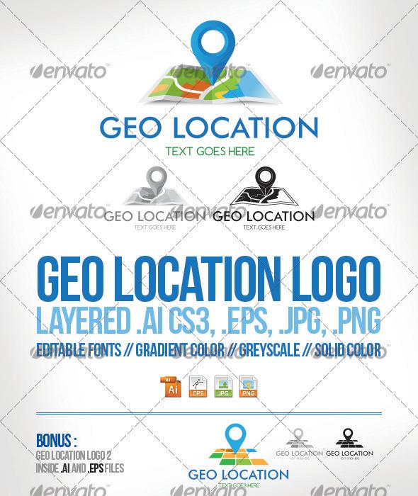 GraphicRiver Geo Location Logo Template 3902095