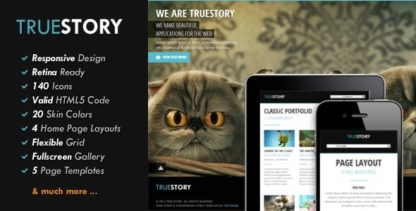 TrueStory - Fullscreen HTML5 Template