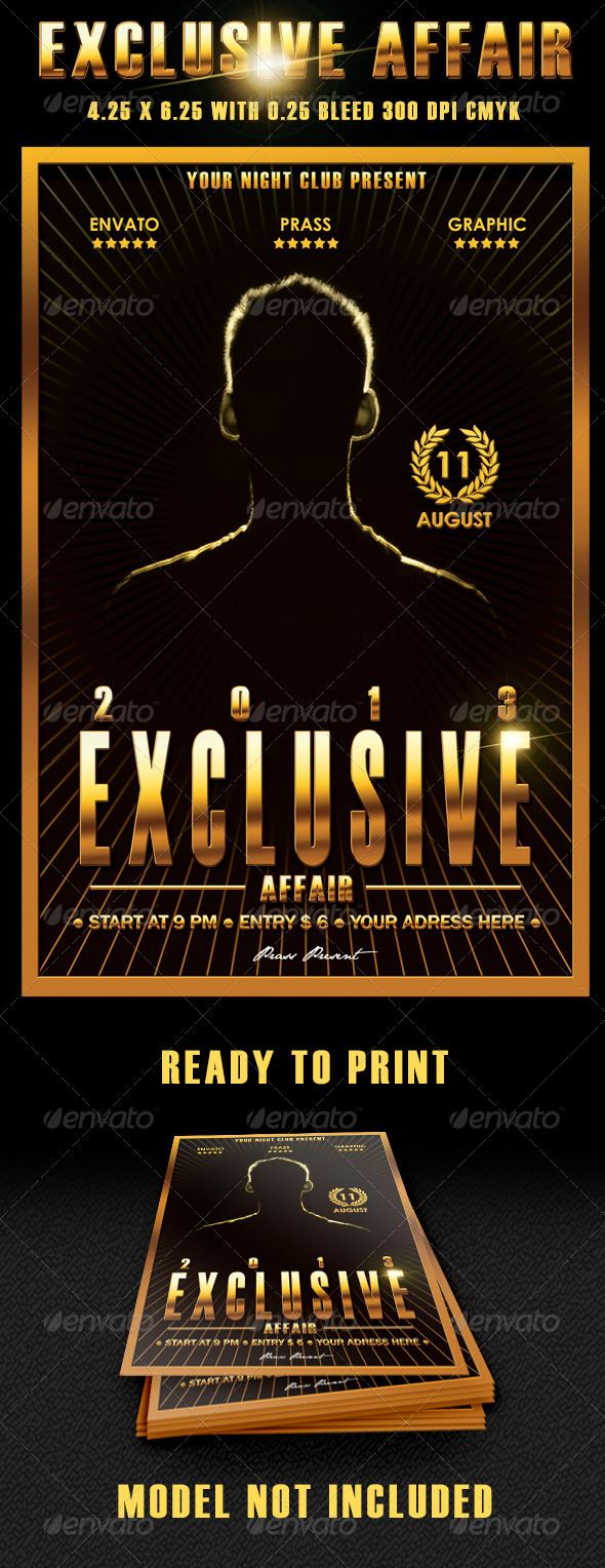 GraphicRiver Exclusive Affair Flyer Template 3902401