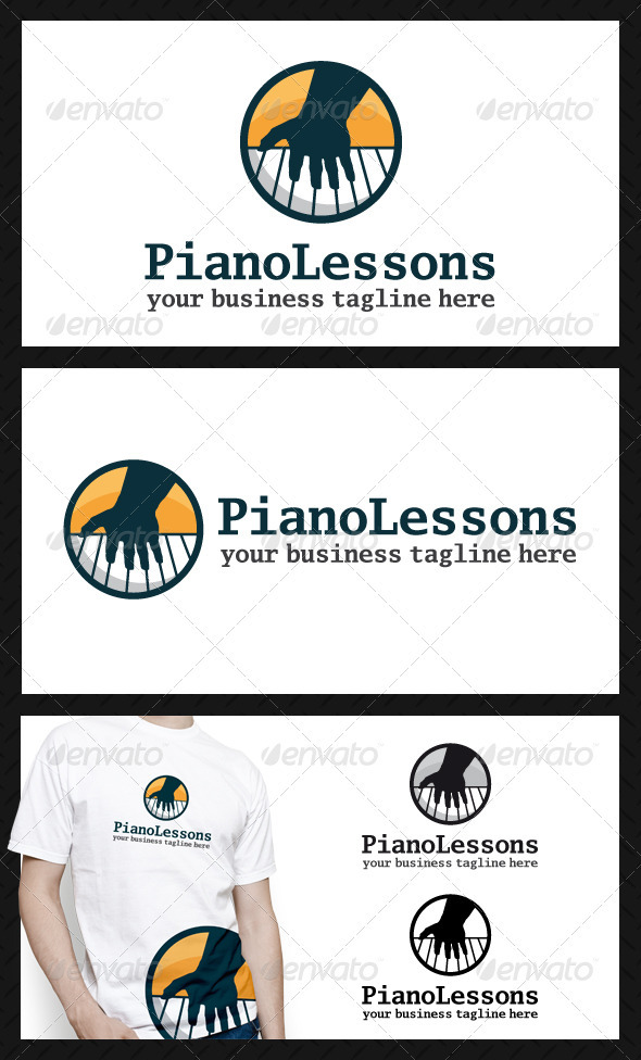 GraphicRiver Piano Lessons Logo Template 3902444