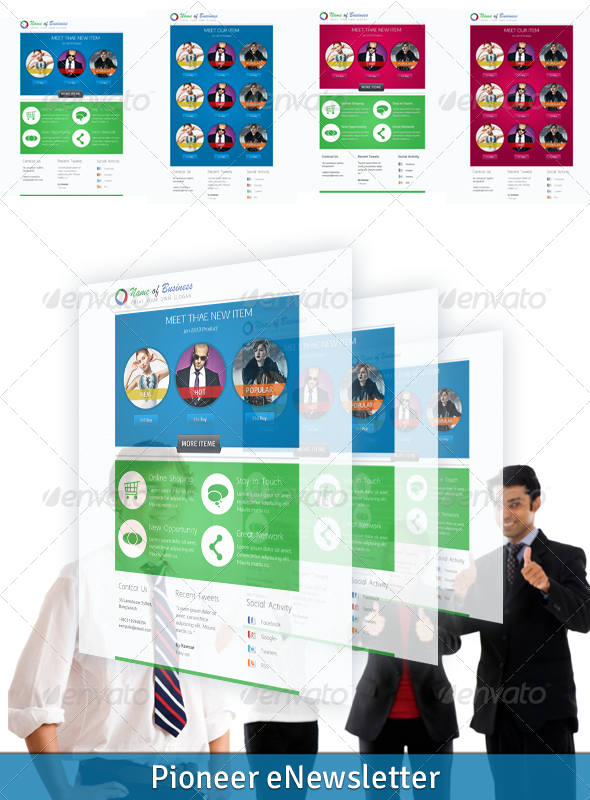 GraphicRiver Pioneer eNewsletter 3744885